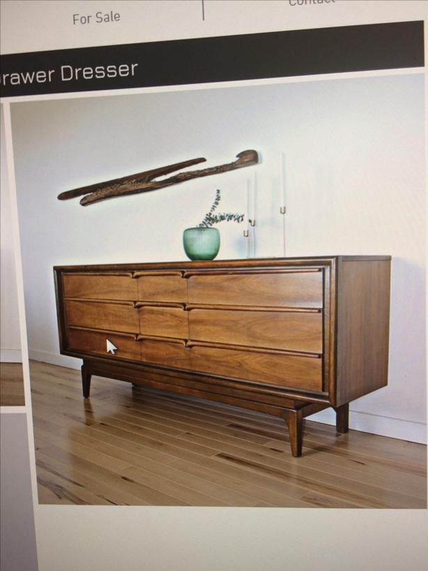 WANTED: Walnut or teak credenza or dresser.