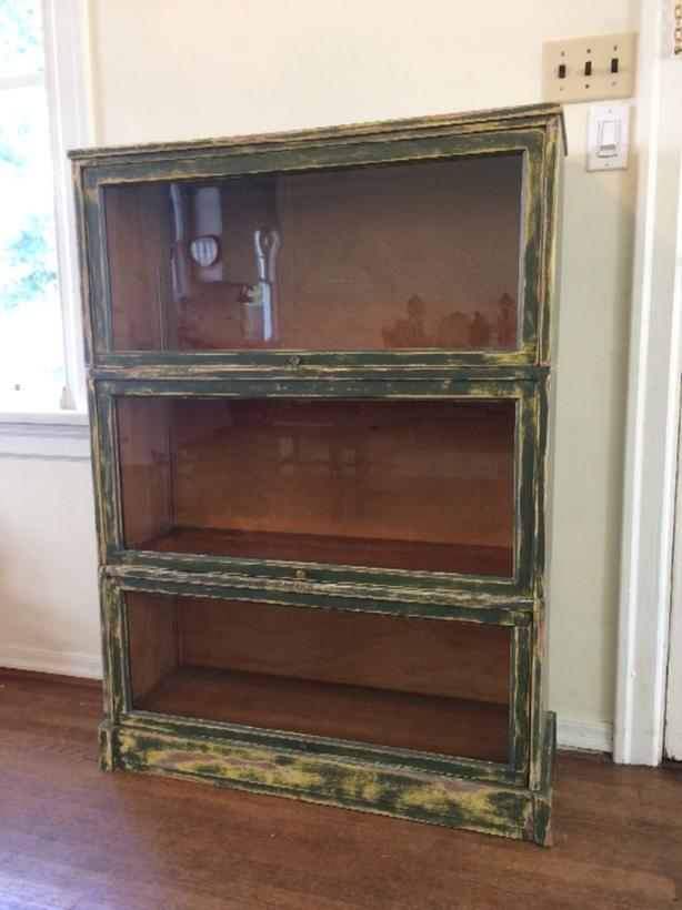 Antique Barrister Bookcase Glass Doors