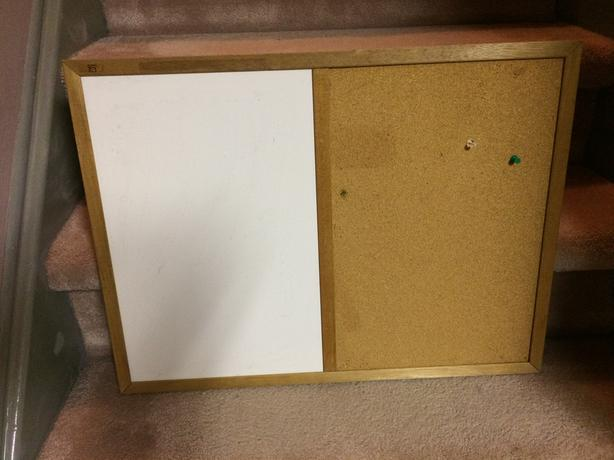 White Board/Bulletin Board Combo