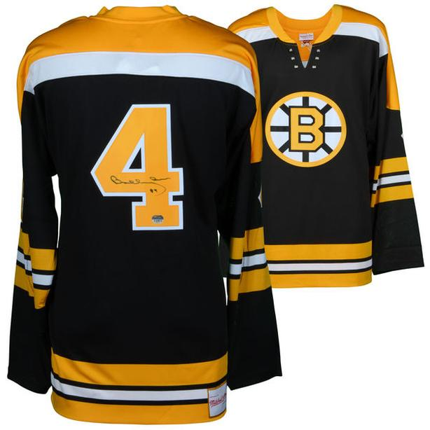 Bruins Bobby Orr #4 Autographed Jersey