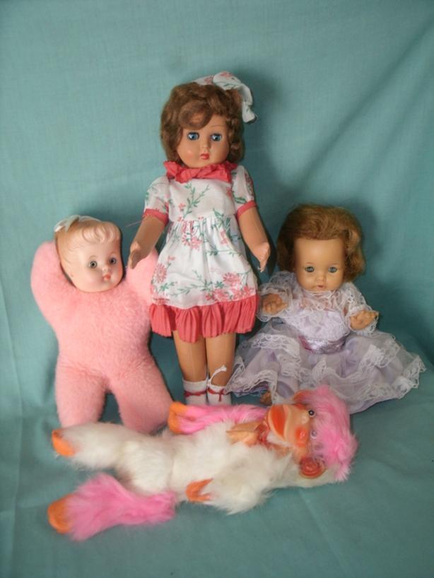 (4) Vintage Dolls - Furga Doll - Blanket Tammy Doll etc