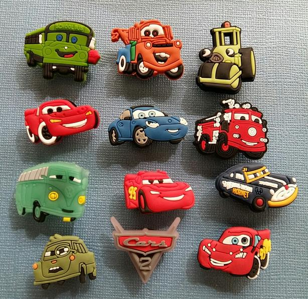 """Disney """"Cars"""" Shoe Charms or Magnets"""