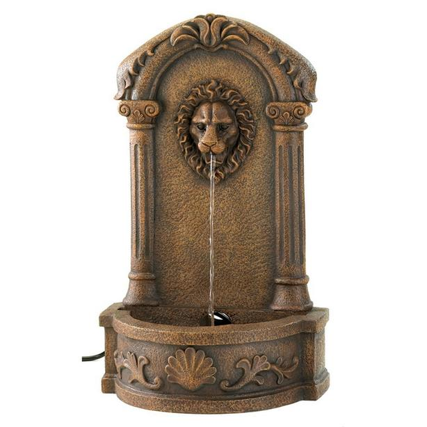 Stone-Look Lion's Head Outdoor Electric Water Fountain Brand New