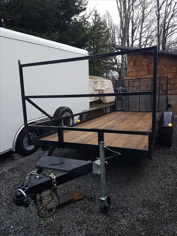 16 Foot Flat Deck Utility Trailer