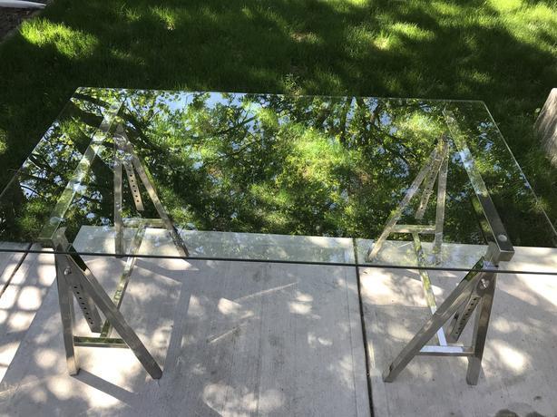 Designer Glass top desk
