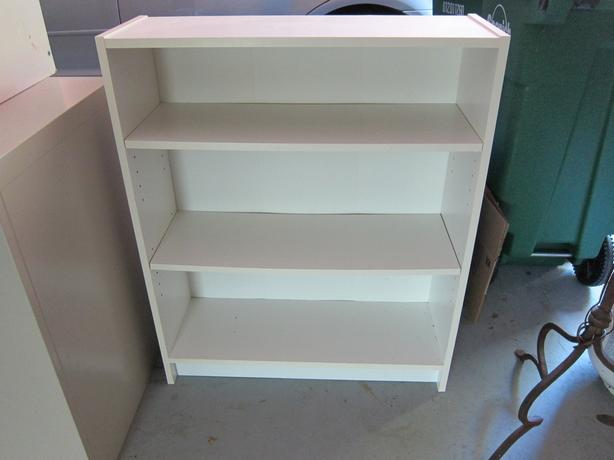 buy popular 562b6 8952f Good quality sturdy white bookcase with adjustable shelves ...