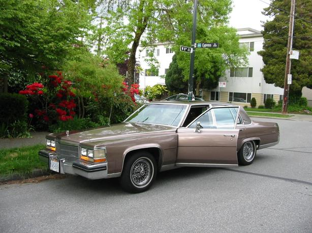 NOT RUSTY! 84 Cadillac, Ftwd Brougham D'Elegance, l/m on small v8