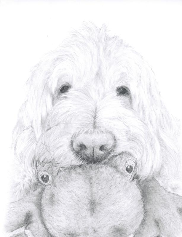 Custom hand drawn pencil sketch of animals from your photo