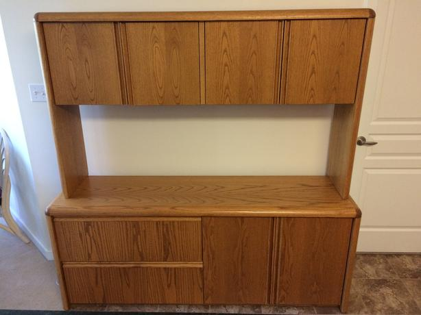 Beautiful Solid Oak Credenza