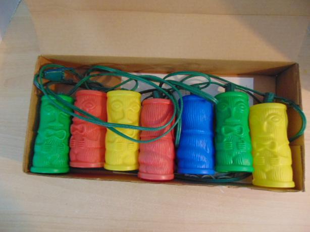Vintage 1970 S Plastic Blow Mold Tiki Torch Party Patio Rv