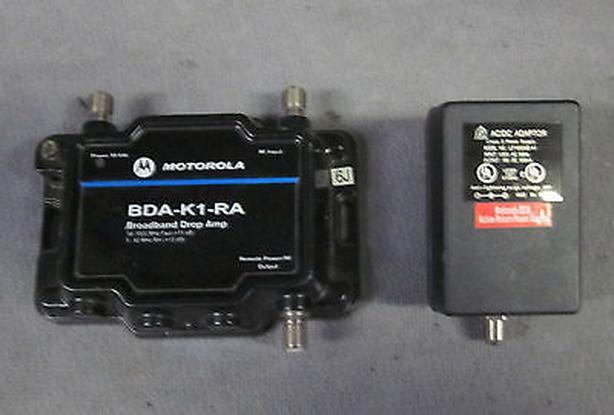 MOTOROLA BDA-K1-RA cable TV Signal amplifier  one  port  WITH POWERSUPPLY(USED)