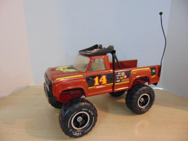  Log In needed $25 · Tonka Vintage 14 4X4 Racing Rally Pickup Truck Brown  1980's RARE No Tail gate