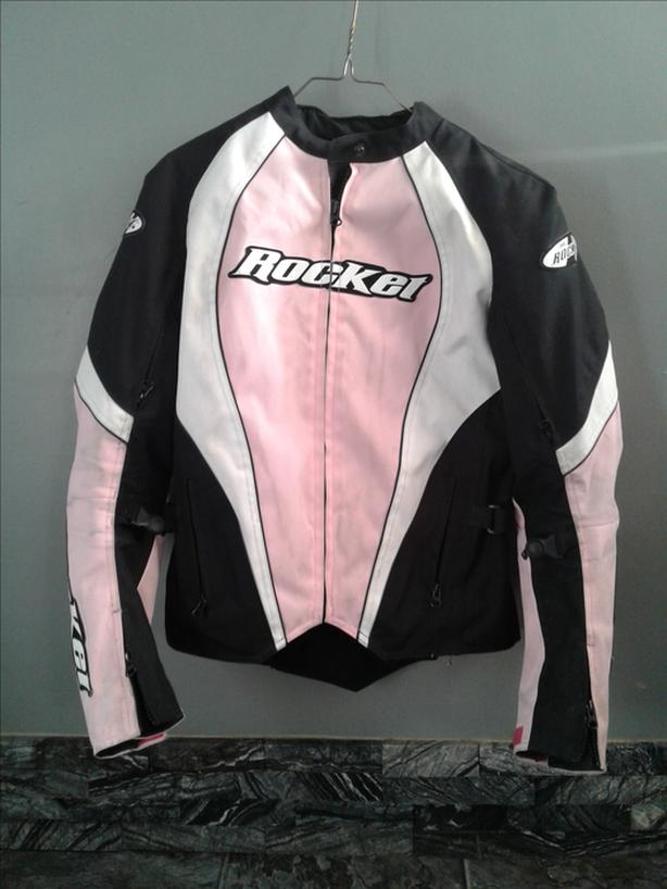 Joe rocket bike jacket pink black n white 50 obo