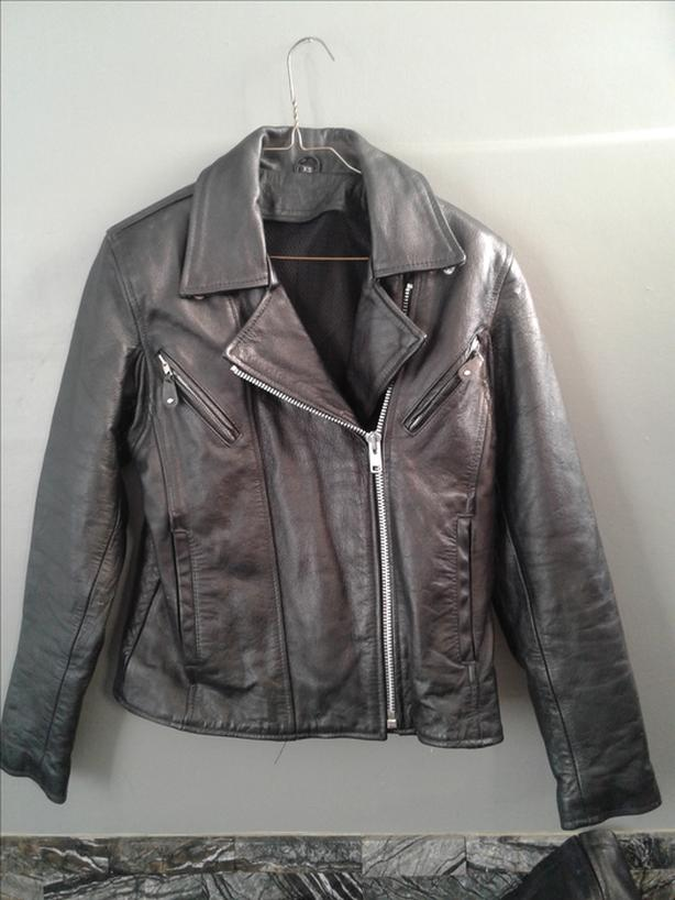 Bike style leather jacket priced to sell 50 obo