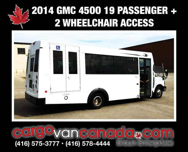 BUS ~ 2014 GMC SAVANA 4500 BLUE BIRD 19 PASS W/ 2WHEEL CHAIR ACCESS