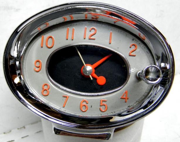1960 Buick Lesabre Chrome Pedestal Borg Clock Invicta Electra