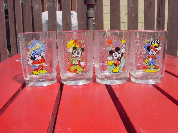 4 McDonald Celebration Walt Disney World Mickey Mouse Glasses