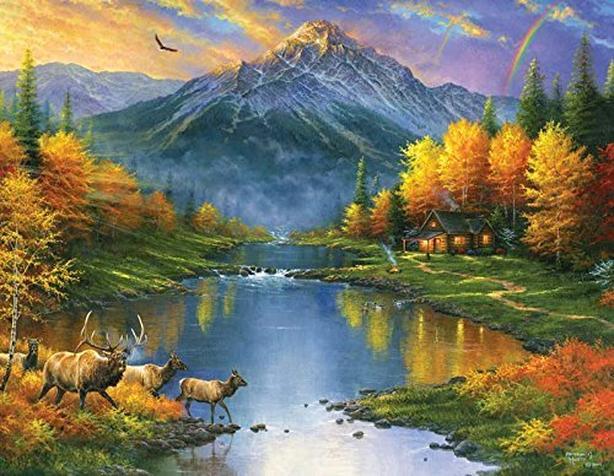 1000 piece Mountain Retreat puzzle