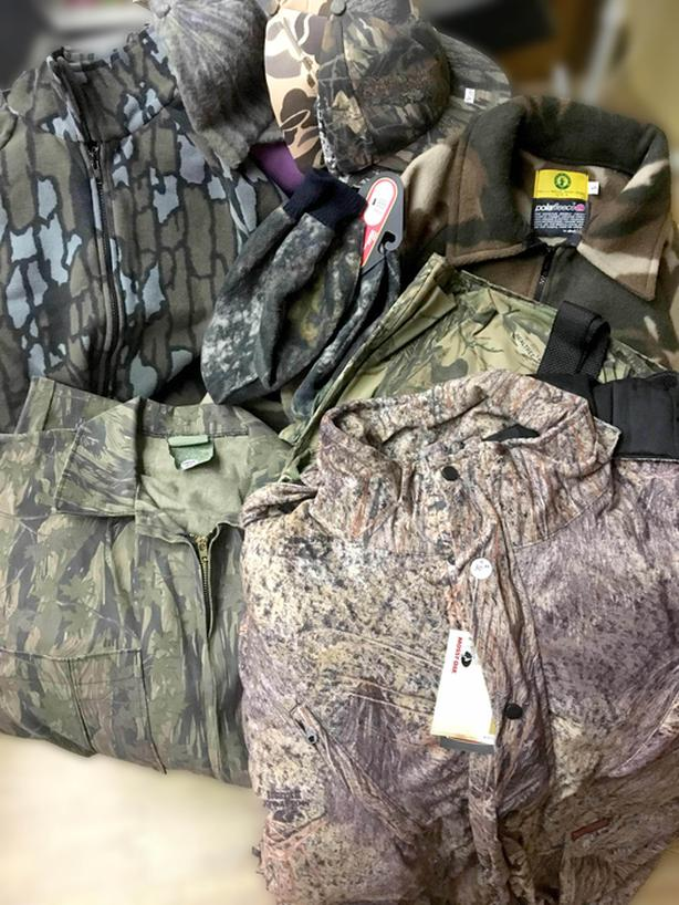 VARIOUS SIZES/PRICES OF NEW HUNTING CAMO