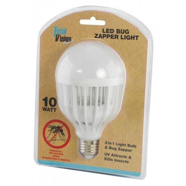 2-In-1 LED Insect Bug Zapper Light Bulb 3 Lot Brand New