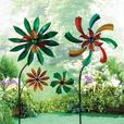 Double Metal Flower Windmills Your Choice Mix & Match Brand New Colorful