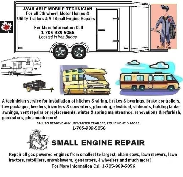 RV-TECHNICIAN FOR ALL TRAILERS & SMALL ENGINE REPAIRS - IRON BRIDGE