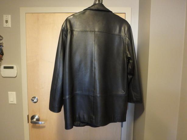 Womens Black Soft Supple Leather Coat