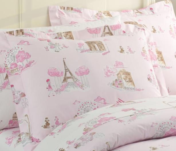 Pottery Barn Paris Toile Twin Duvet Cover Sham And Sheet Set North