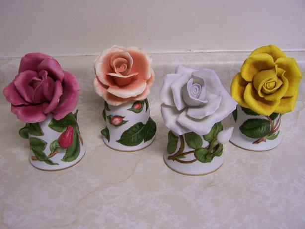 Rose Flower Dinner Bells