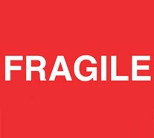 FRAGILE Shipping Label Sticker (Set of 50)