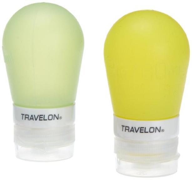 Travelon 2 ounce Smart Tubes (Set of 2) - Green/Yellow