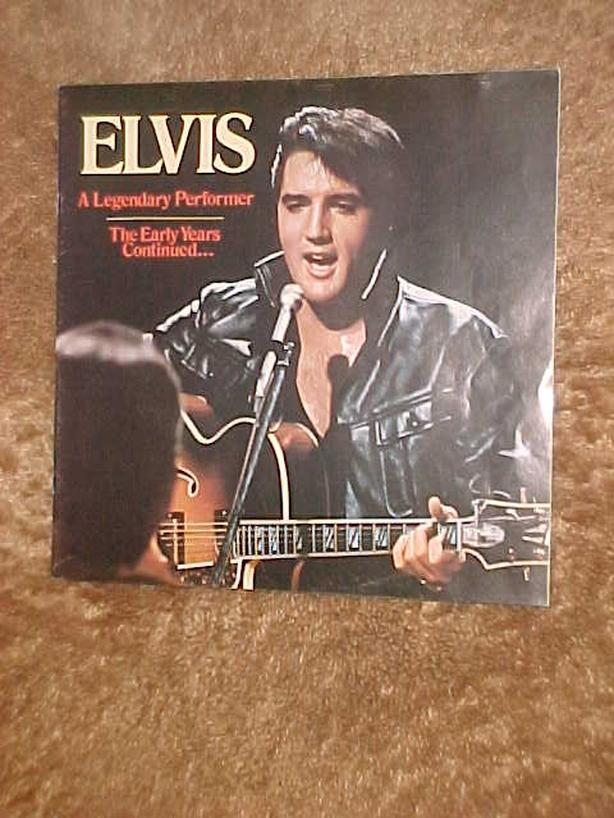 ELVIS A LEGENDARY PERFORMER BOOKLET