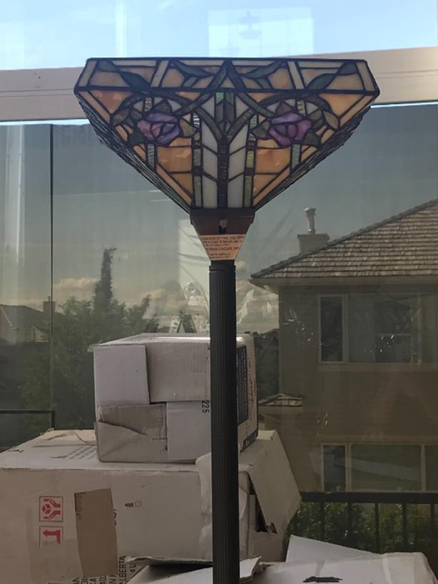 "glass moasic floor lamp 70"" tall"