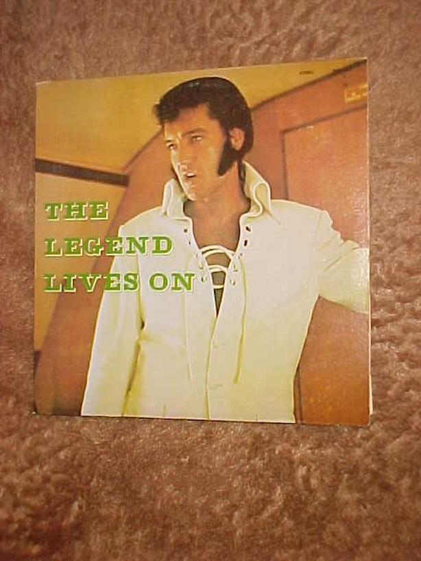ELVIS THE LEGEND LIVES ON VINYL LP
