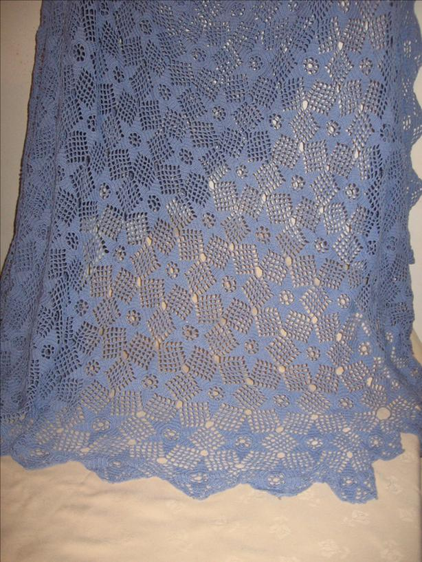 Lavender hand Crochet Table Cover or Bedspread  $79.00