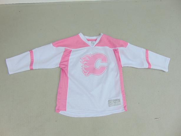 big sale af744 9142b  Log In needed $25 · Hockey Jersey Child Size 6x Reebok Calgary Flames  Pink Mint Condition