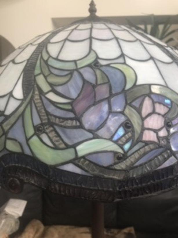 Glass mosaic floor lamp