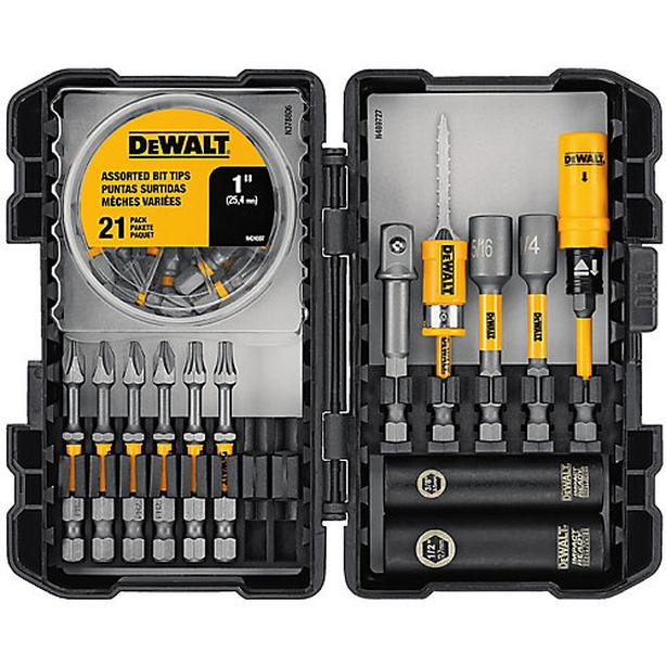 DEWALT 35-Piece Max Impact Screwdriving Bit Set w/ Magnetic Screw Lock Holder