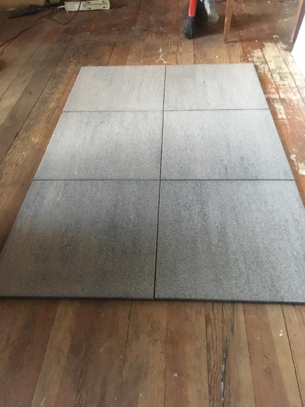Over 380 Sq Ft Of 16x16 Italian Granite Floor Tile Outside Victoria