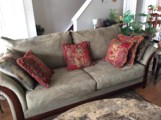 Soft microfibre sofa