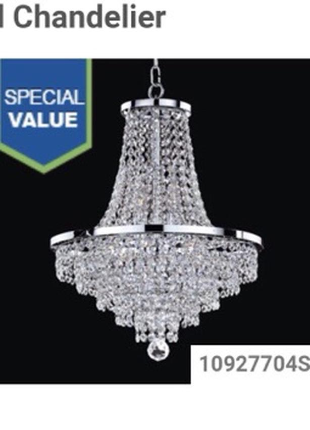 Crystal chandelier new in box gold color
