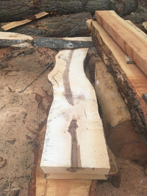 white oak and white walnut slabs west shore langford colwood