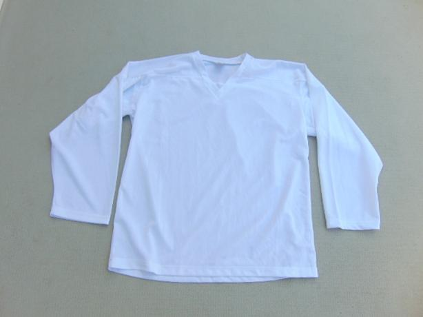 Hockey Jersey Child Size L - XL 10-14 NEW White