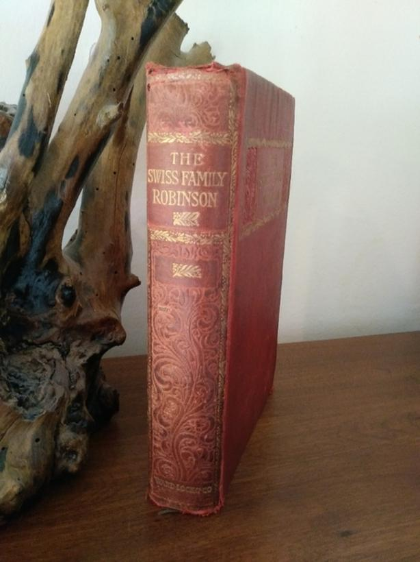 Beautiful Antique Swiss Family Robinson book -between 1873-1879