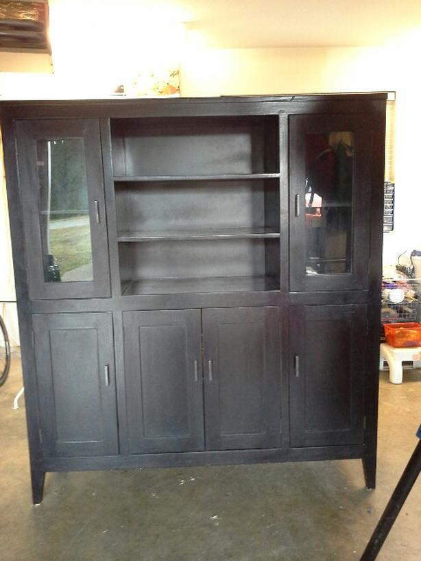 Beautiful dark acacia wood cabinet