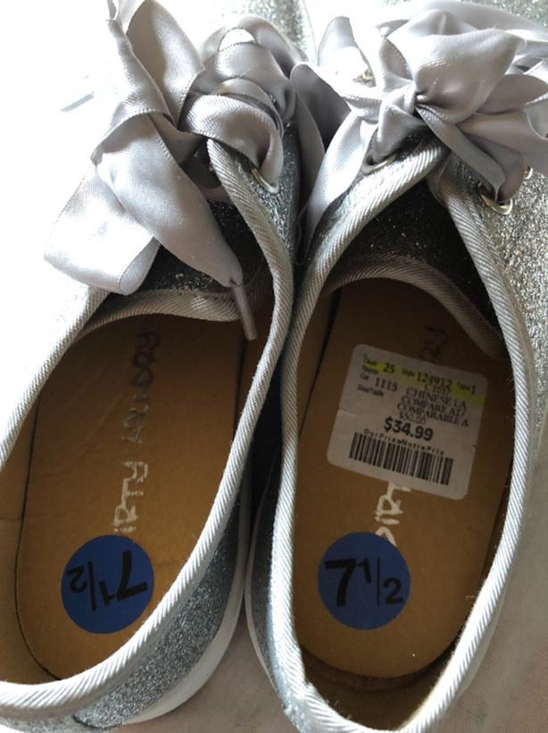 brand new shiney silver gilliter girls shoes North Regina