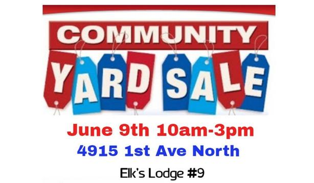 Elks Hall Yard Sale...Don't Miss This One!