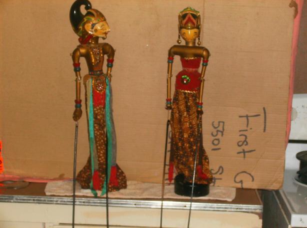 Indonesian Golek Puppet Dolls