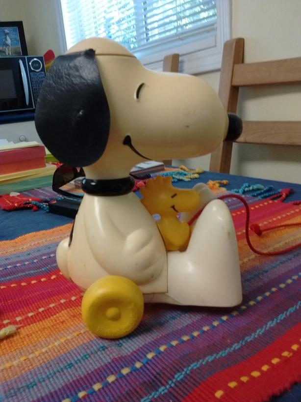 Hasbro Snoopy with Woodstock Pull-Along-Toy OBO