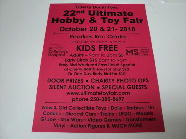 Hobby & Toy Fair in VICTORIA Sat/Sun Oct 20 & 21 KIDS FREE